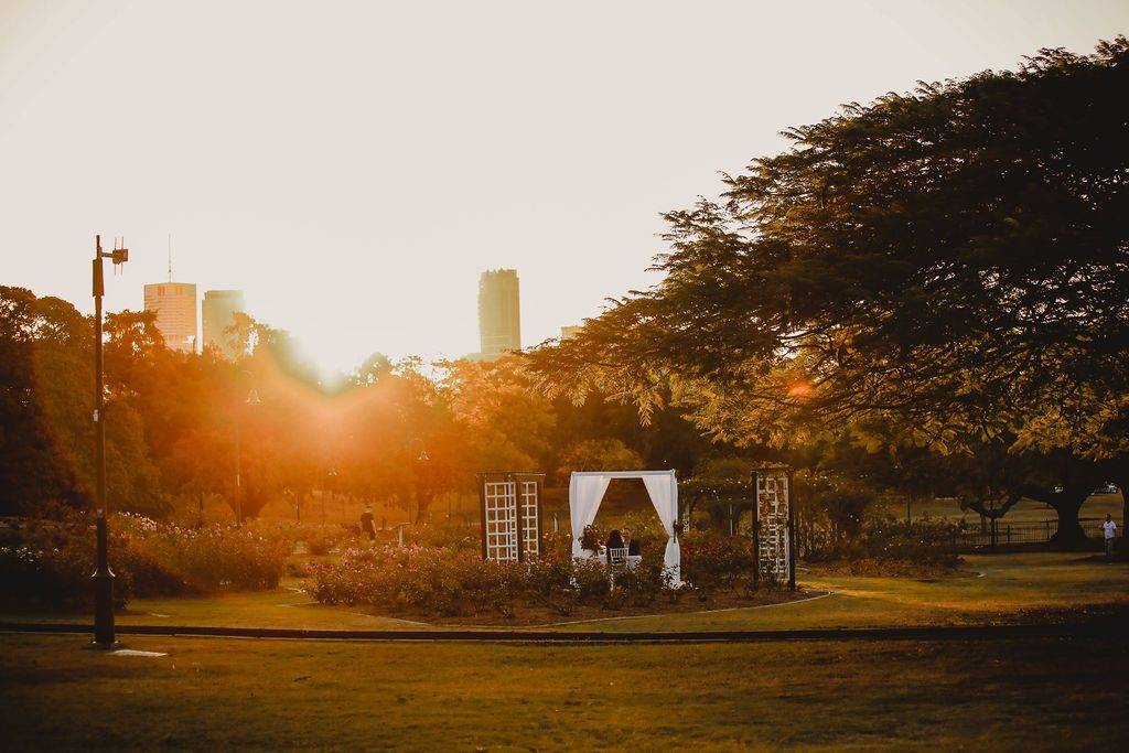 sunset elopement Brisbane