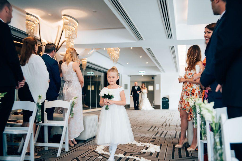 wedding ceremony arrival