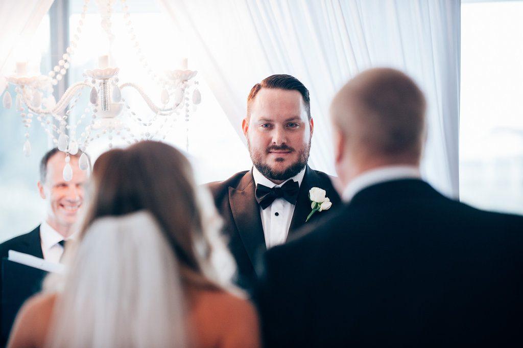 Wedding giving away