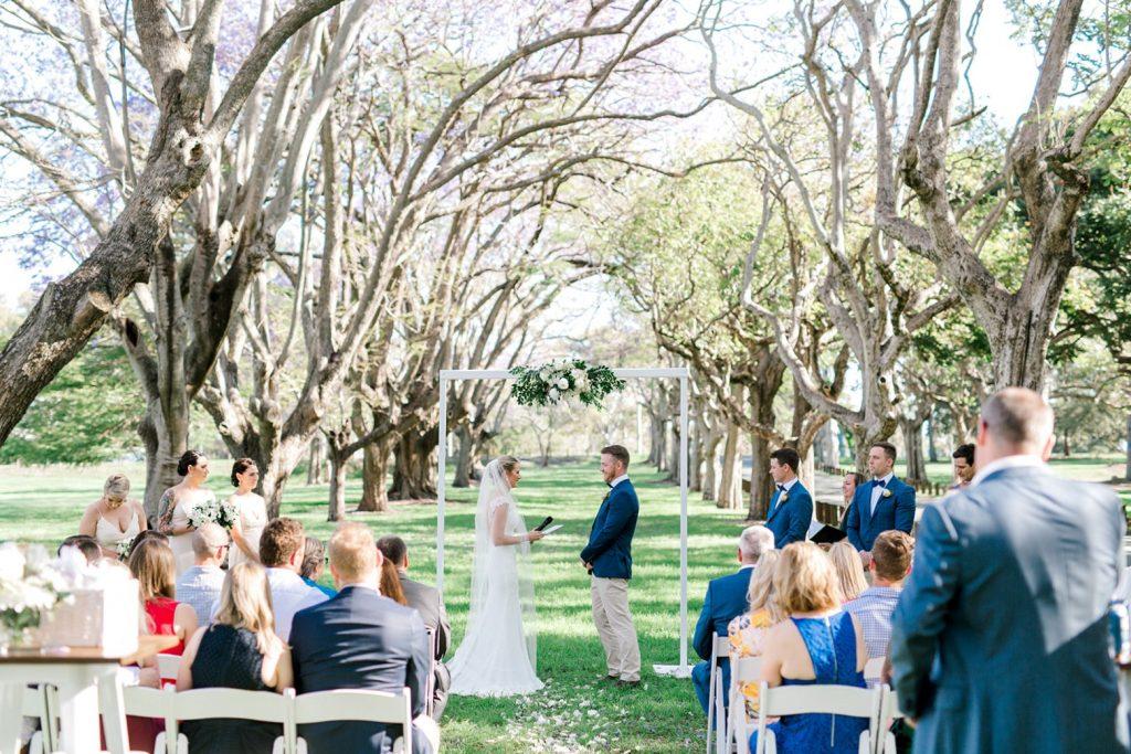 Wedding in park