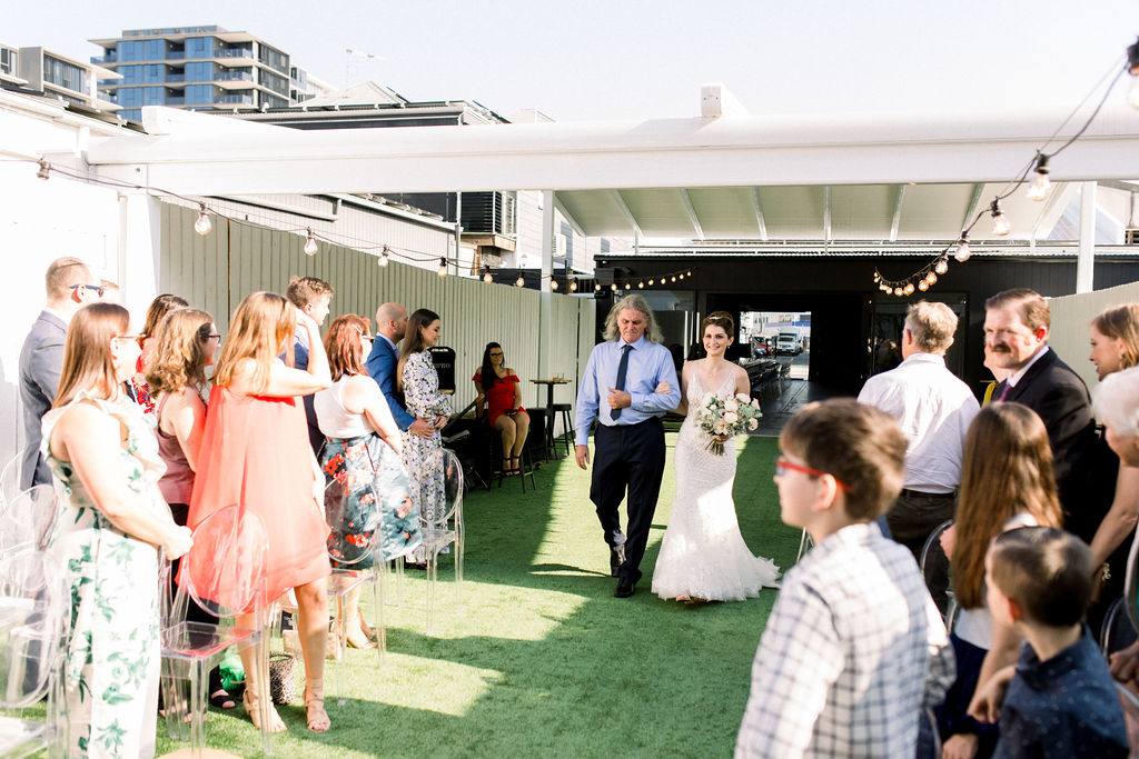 wedding at The Refinery
