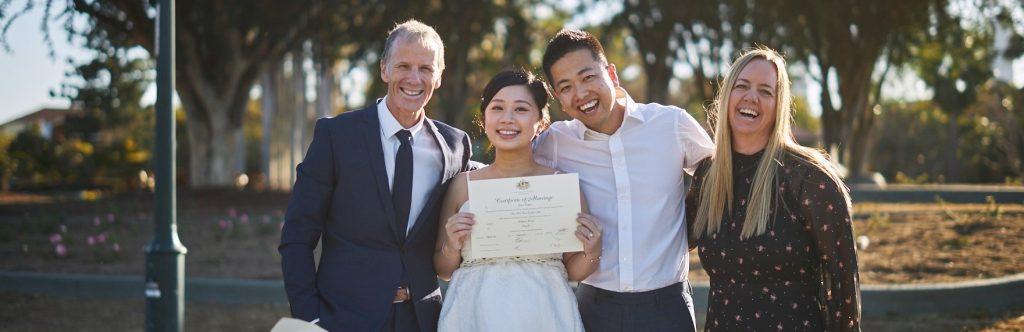 Best elopement Celebrants Brisbane