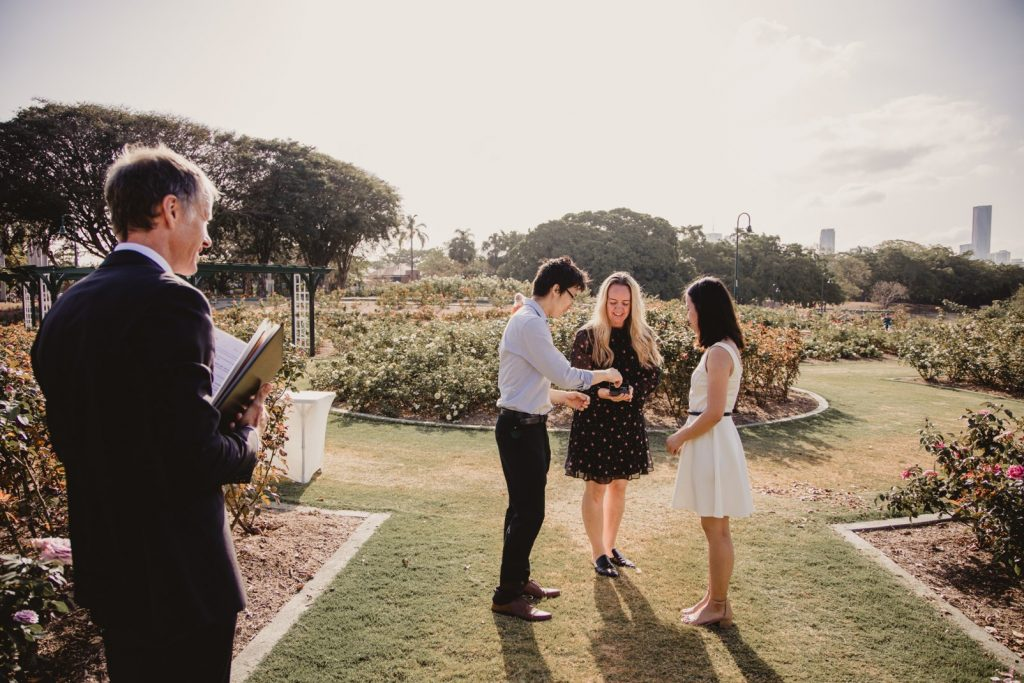 New Farm Park elopement wedding Brisbane