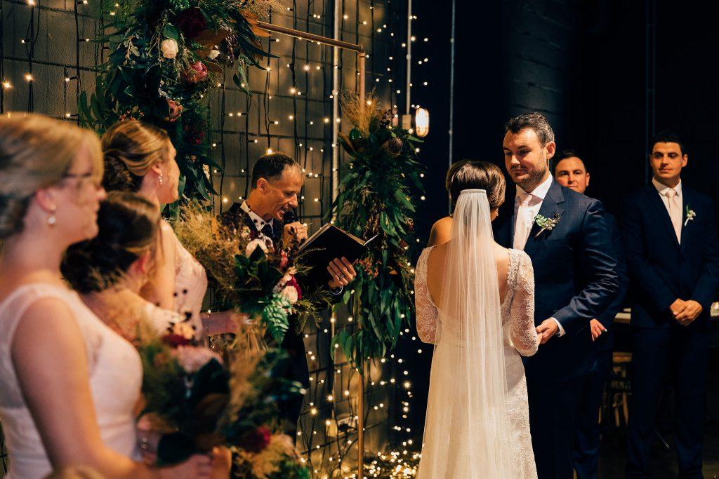 Lightspace wedding ceremony