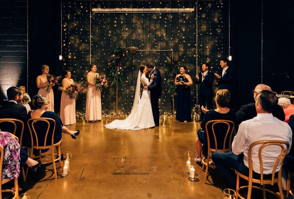 Lightspace wedding ceremony Brisbane