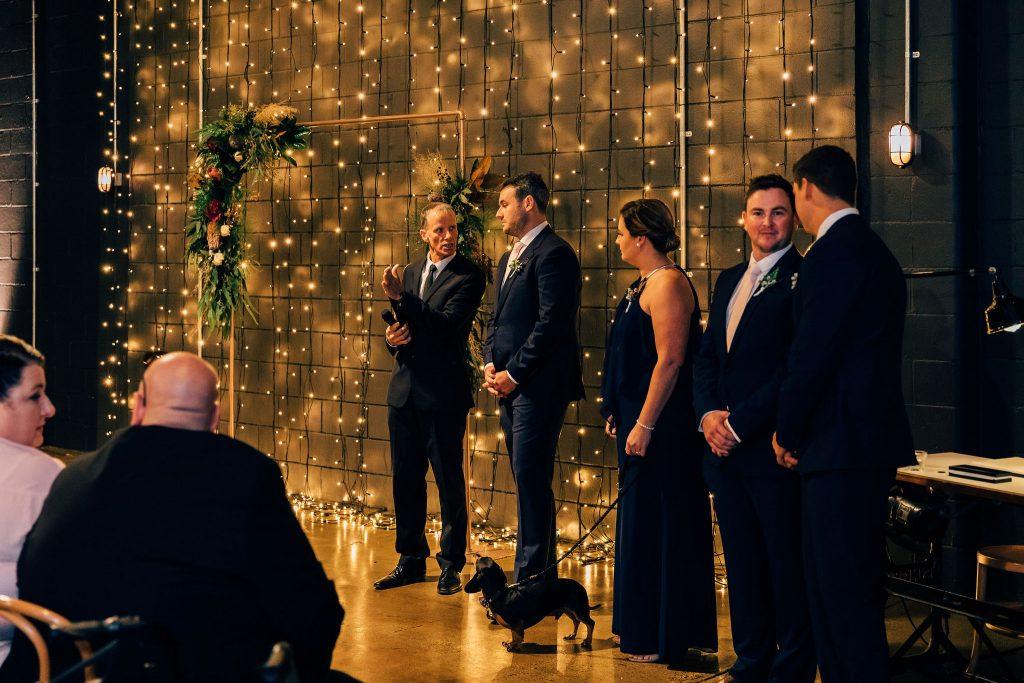 Light space wedding Brisbane