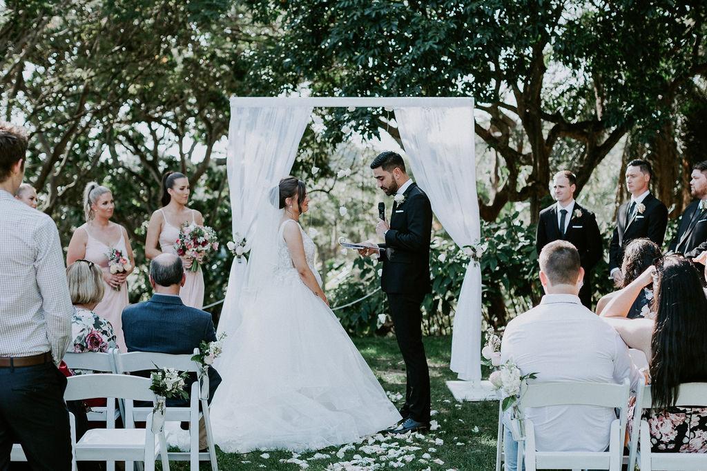 Roma Street Parkland wedding ceremony setup