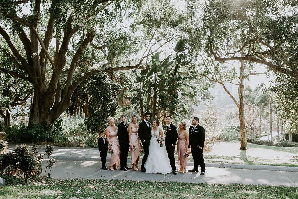 Roma Street Parkland wedding photos