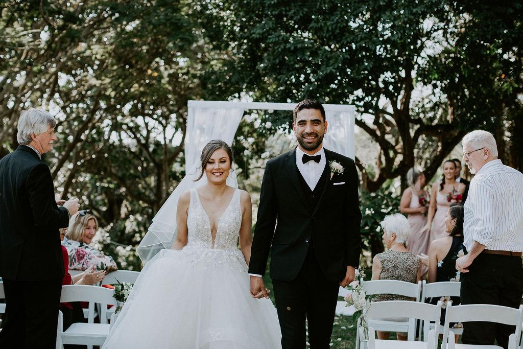 Roma Street Parkland wedding ceremony