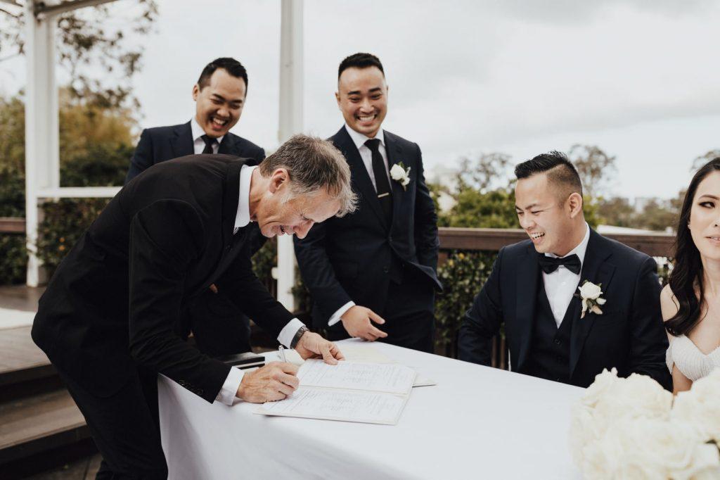Victoria Park wedding Celebrant male