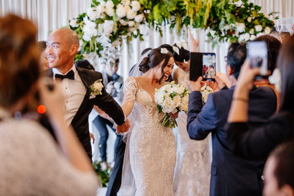 Victoria Park wedding marquee ceremony