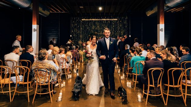 Wedding in a Brisbane warehouse