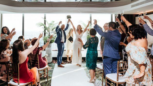 W Hotel Brisbane wedding ceremony