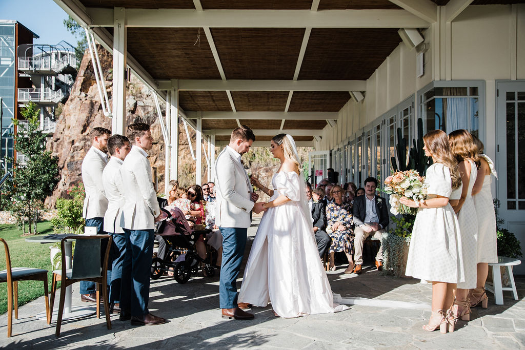Bougainvillea House wedding ceremony