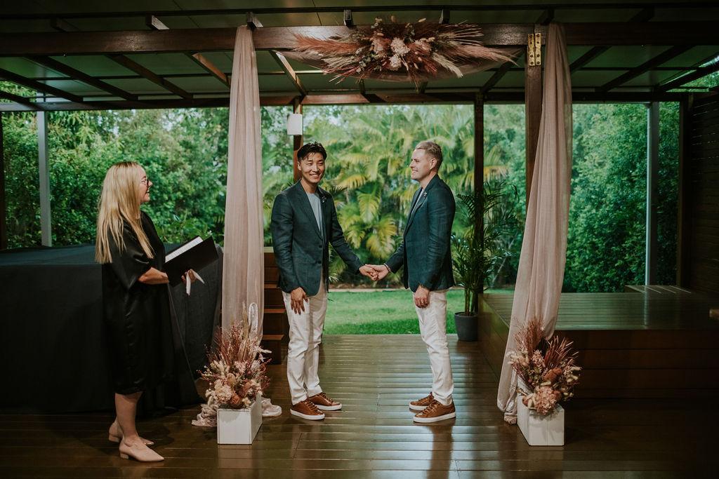 two grooms elopement wedding Brisbane