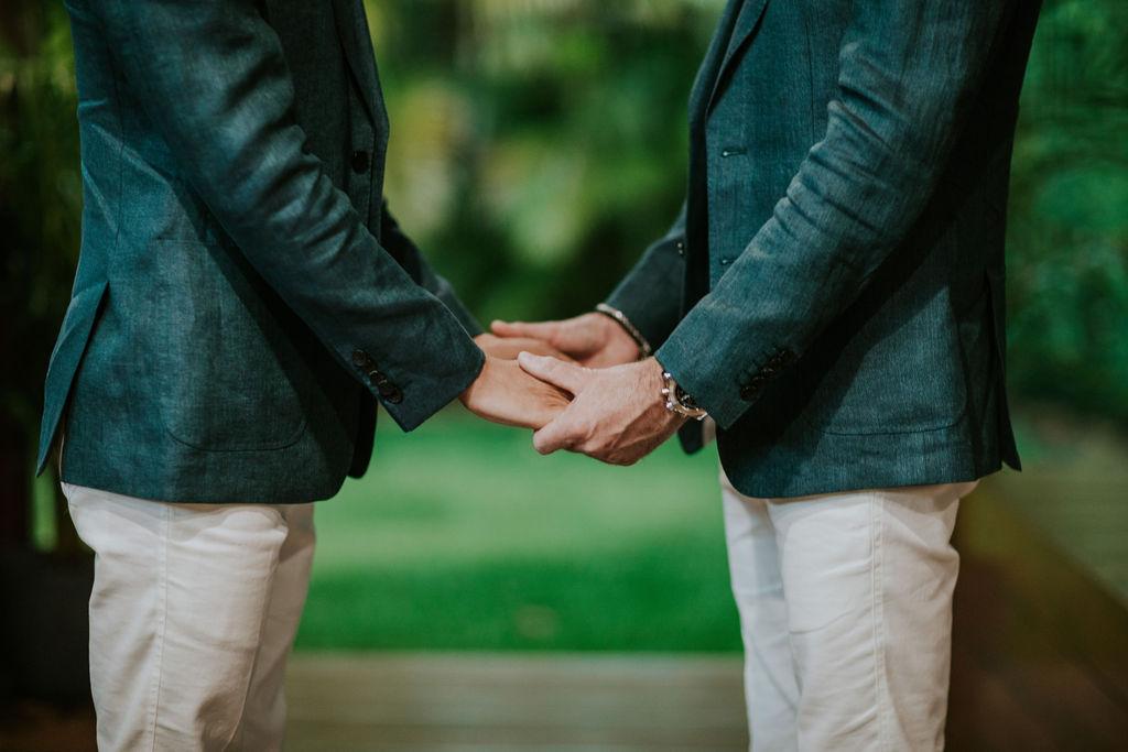 two grooms elopement