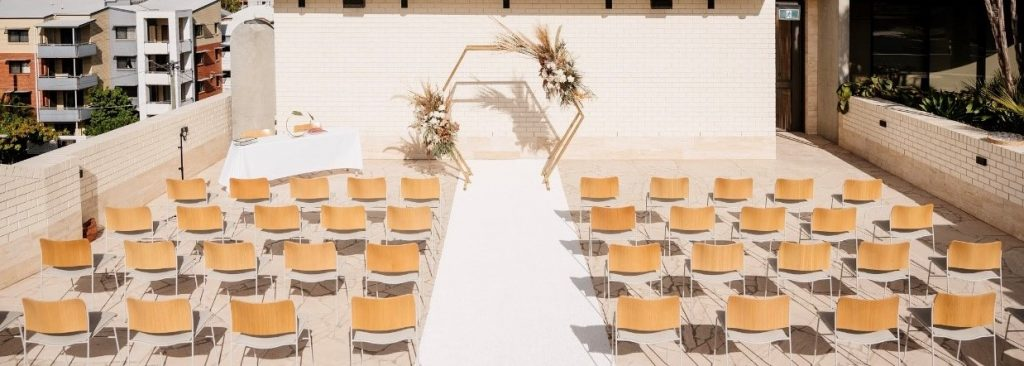 Calile Hotel Amphitheatre wedding styling