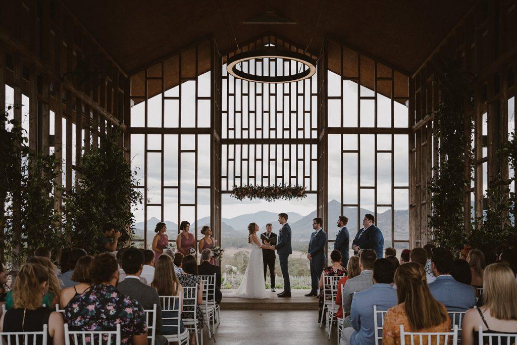 Kooroomba Chapel wedding ceremony
