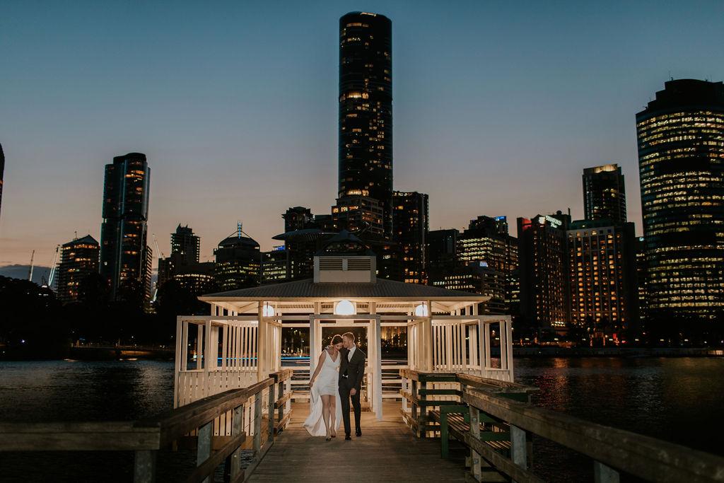 sunset elopement Brisbane